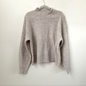 Leith Oversized Mock Neck Knit Sweater